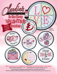 In The Hoop Valentine Coasters