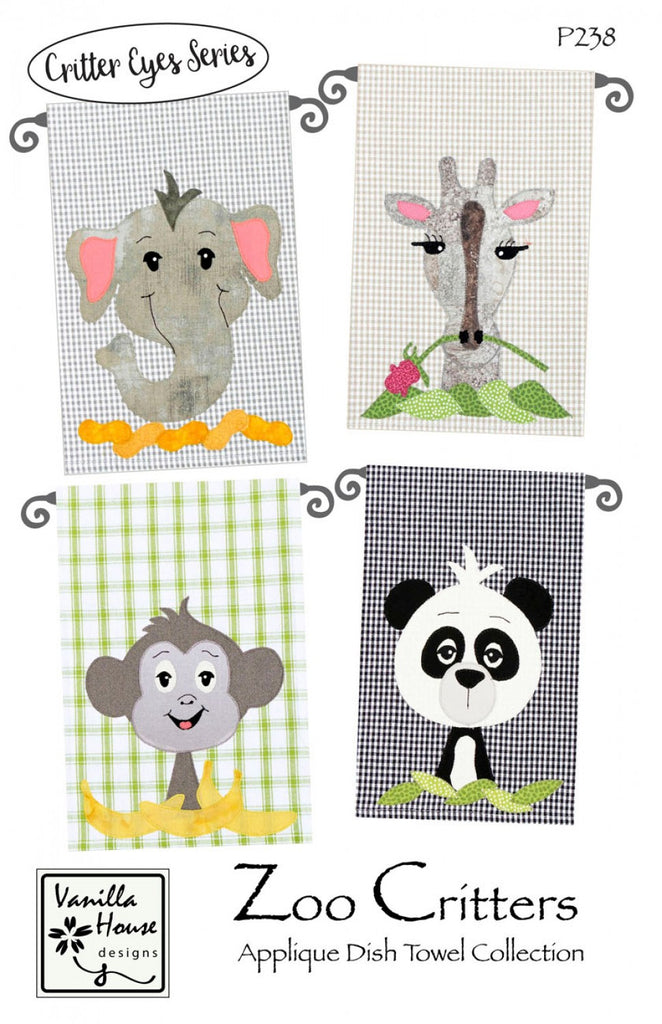 Zoo Critters Applique Dish Towel