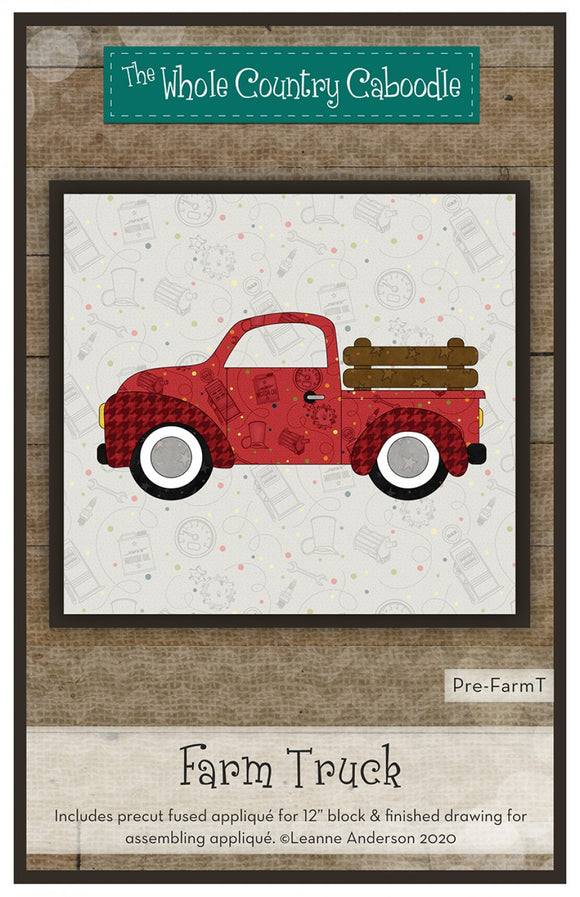 Farm Truck Precut Fused Applique Pack