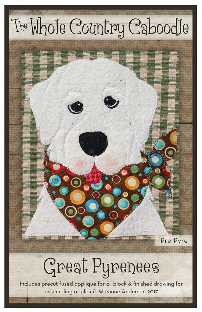 Great Pyrenees Precut Fused Applique Pack