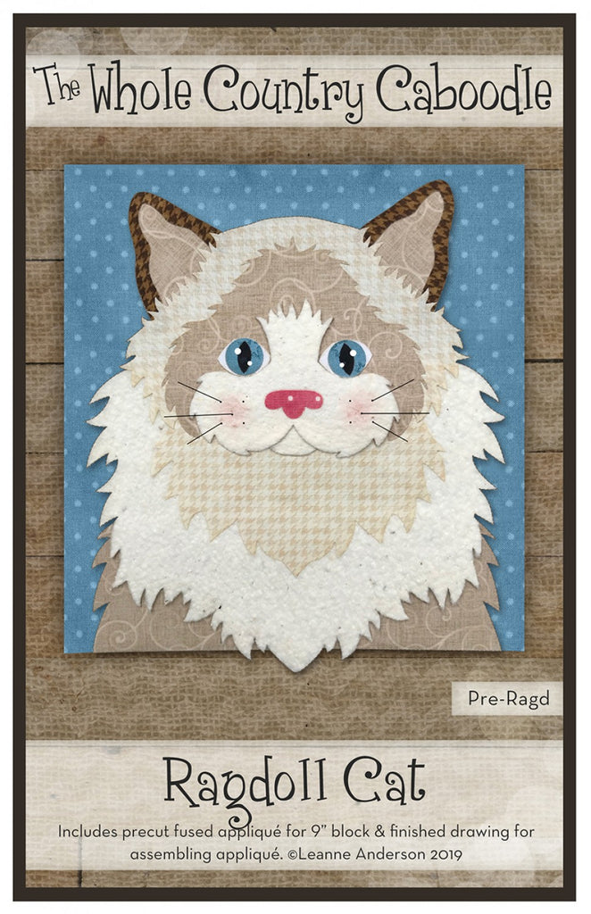 Ragdoll Cat Precut Fused Applique Pack