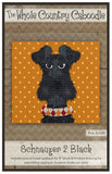Schnauzer 2 Black Precut Fused Applique Pack