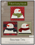 Snowman Trio Precut Fused Applique Pack