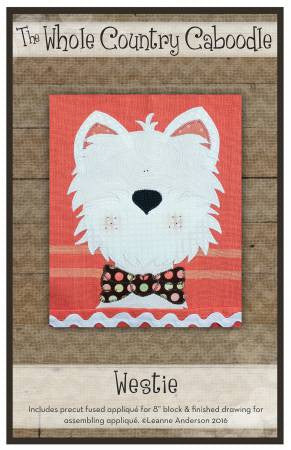 Westie Precut Fused Applique Pack