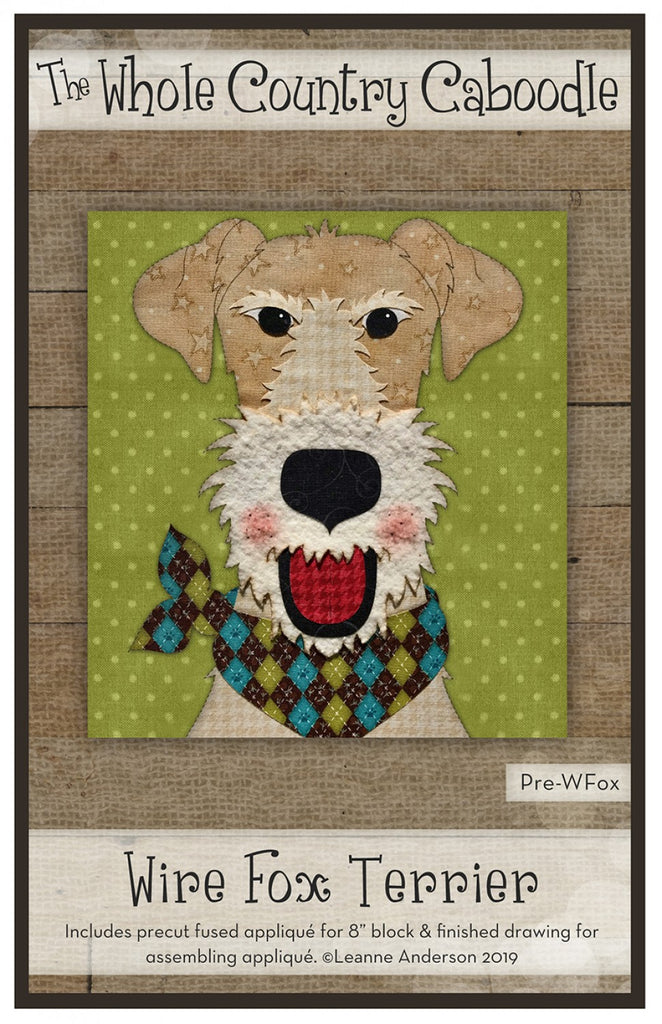Wire Fox Terrier Precut Fused Applique Pack