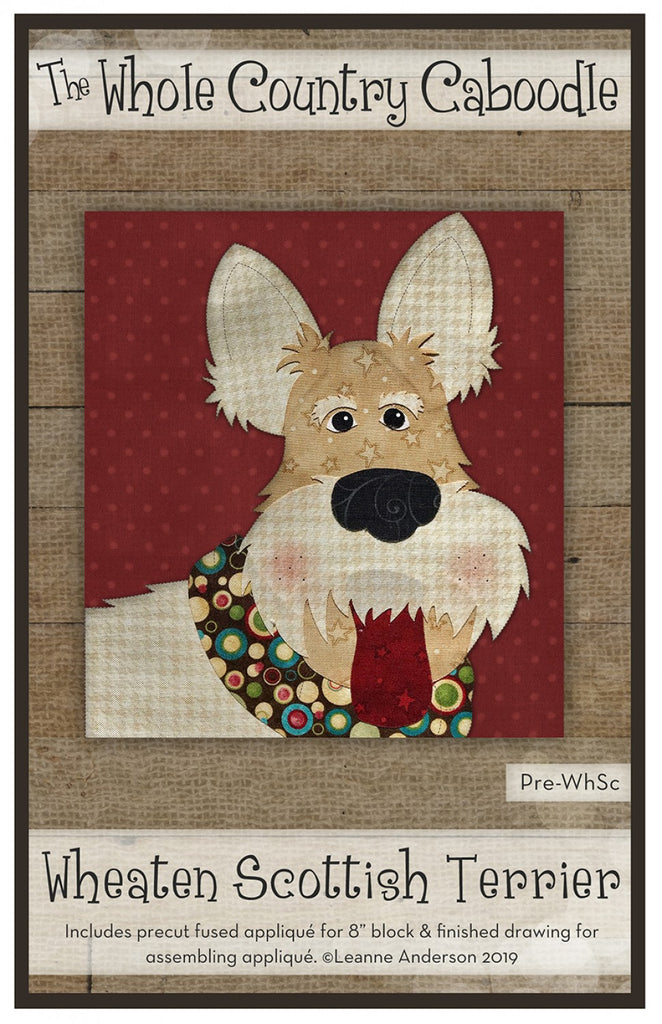 Wheaten Scottish Terrier Precut Fused Applique Pack