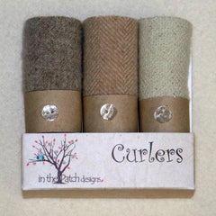 Wool Curlers 4in x 16in Snowman