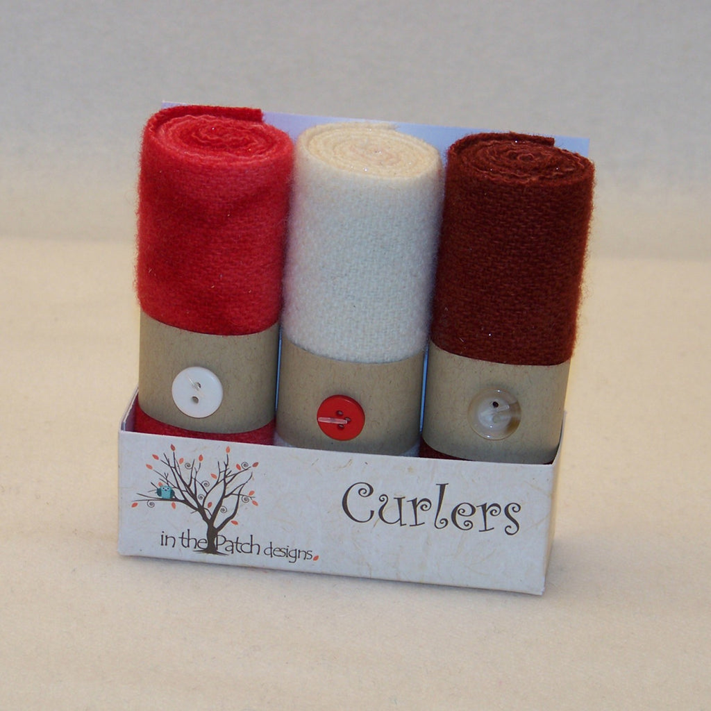 Wool Curlers 4in x 16in Candy Cane