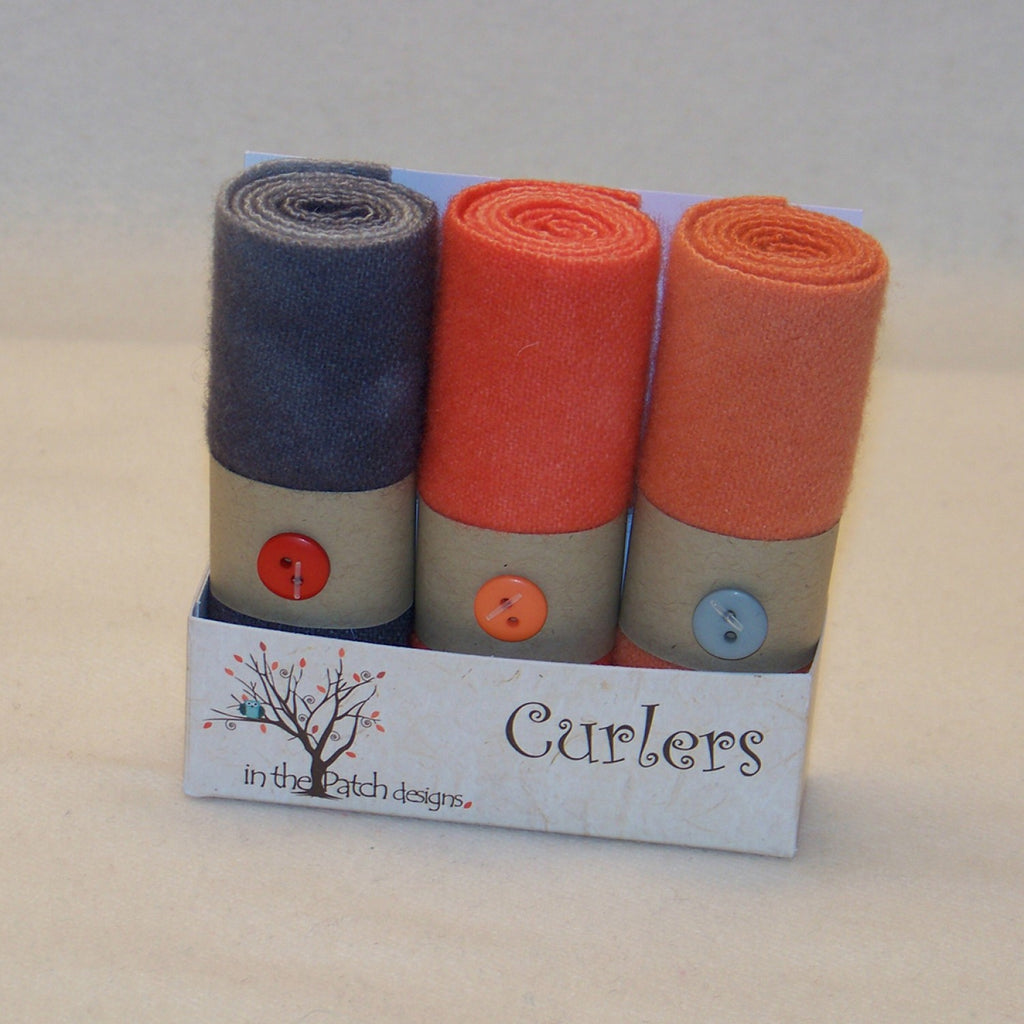 Wool Curlers 4in x 16in Coral Reef