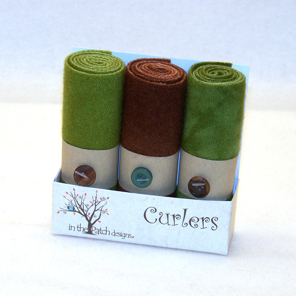 Wool Curlers 4in x 16in Earth
