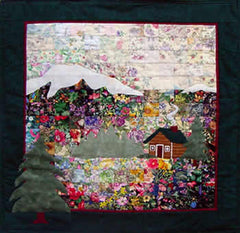 """The Cabin"" Watercolor Quilt Kit"