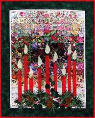 """Christmas Candlelight"" Watercolor Quilt Kit"