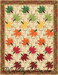 Twirling Leaves Quilt Pattern