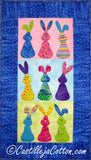 "Cute bunnies. Easy to make quilt pattern.   Finished Sizes: 16.5"" x 29"""