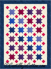 Floating Stars and Diamonds Quilt Pattern