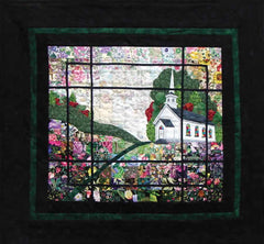 """Country Church"" Watercolor Quilt Kit"
