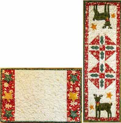 Reindeer & Stars Table Runner & Placemat