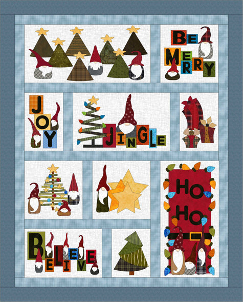 Gnome for the Holidays Quilt Pattern