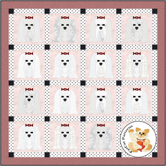 Dog Days, Maltese Quilt Pattern