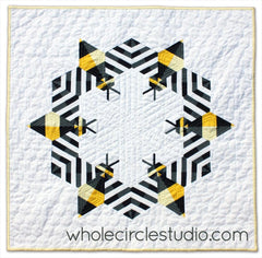 Bzzzzzz Mini Quilt - Whole Circle Studio