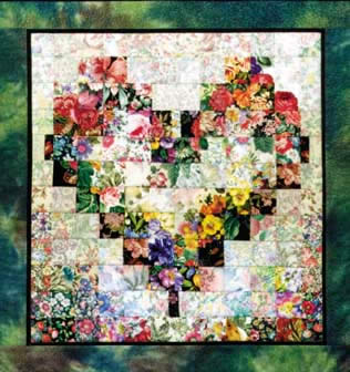 """Heart In Bloom"" Watercolor Quilt Kit"