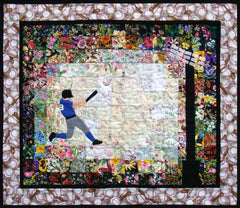 """Home Run"" Watercolor Quilt Kit"