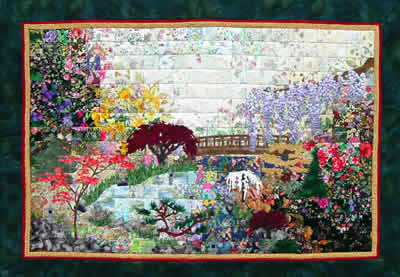 """Japanese Garden"" Watercolor Quilt Kit"