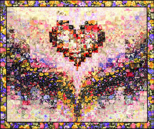 """""""Mary's Heart"""" Watercolor Quilt Kit"""