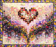 """Mary's Heart"" Watercolor Quilt Kit"