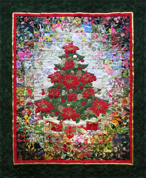 """Oh! Christmas Tree"" Watercolor Quilt Kit"