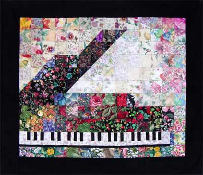 """Piano"" Watercolor Quilt Kit"