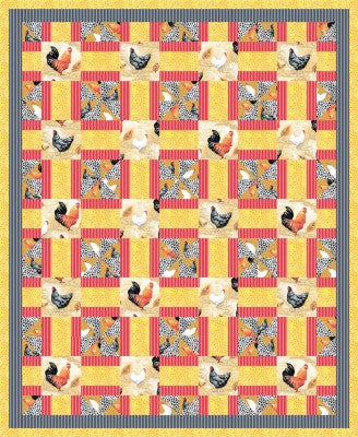 Poultry Party Quilt Pattern