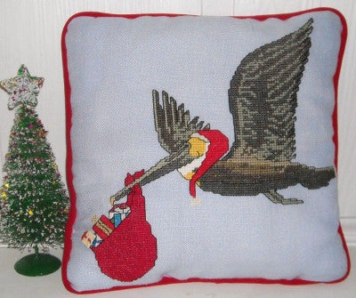 The Christmas Pelican Cross Stitch Pattern
