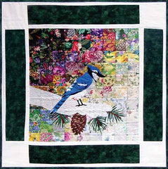 """Rachel's Bird Garden"" Block #1: Blue Jay"