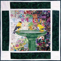 """Rachel's Bird Garden"" Block #6: Goldfinch"