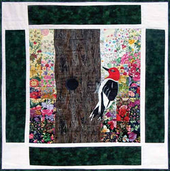 """Rachel's Bird Garden"" Block #11: Woodpecker"