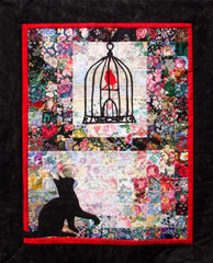 """Red Bird's Retreat"" Watercolor Quilt Kit"