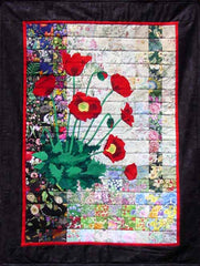 """Red Poppies"" Watercolor Quilt Kit"