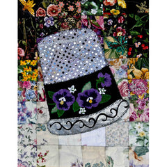 """Rachel's Sewing Room"" Block #3: Thimble of Pansies"