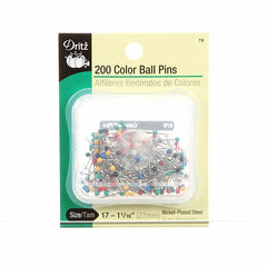 Color Ball Head Pin Size 17 - 1 1/16in 200ct