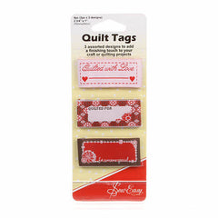 Quilt Tags Set of 3 With Love