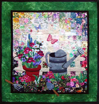 """Spring Gardening"" Watercolor Quilt Kit"