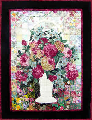 """Wicker & Roses"" Watercolor Quilt Kit"