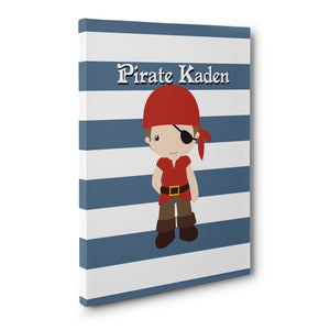 Pirate Bedroom Kids Wall art print, canvas print