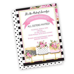 Birthday Cake invitation, customized wording, customized for you digital file