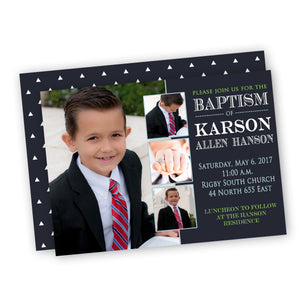 Baptism/Christening Boy Customized Invitation