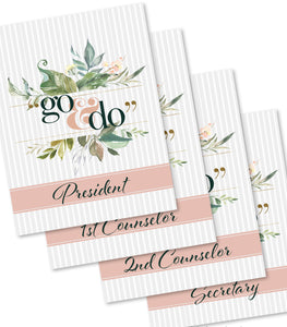 2020 Young Women theme printables: Invitation, banner, binder covers, bookmarks, posters and more