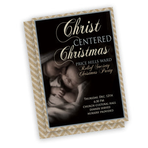 Christmas Nativity Invitation, customized fast, digital file ward party or neighborhood invitation