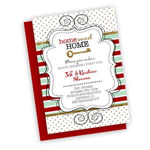 Christmas new home house warming holiday invitation, customized fast