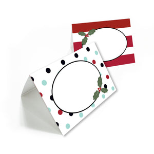 Young Women Holiday cookie party printable package: banner, invitation, tags